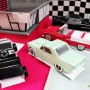 50's-rock-party-centerpiece-cars