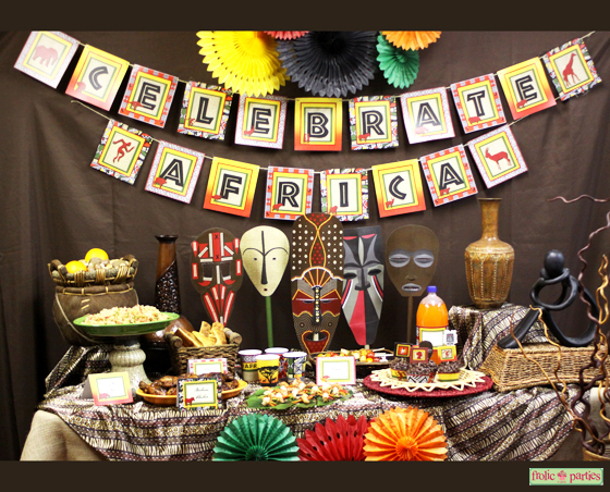 Celebrate africa printable party for African party decoration ideas