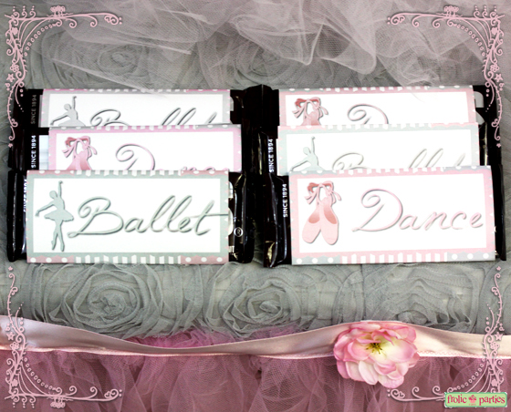 pretty in pink ballerina candy bar wrappers