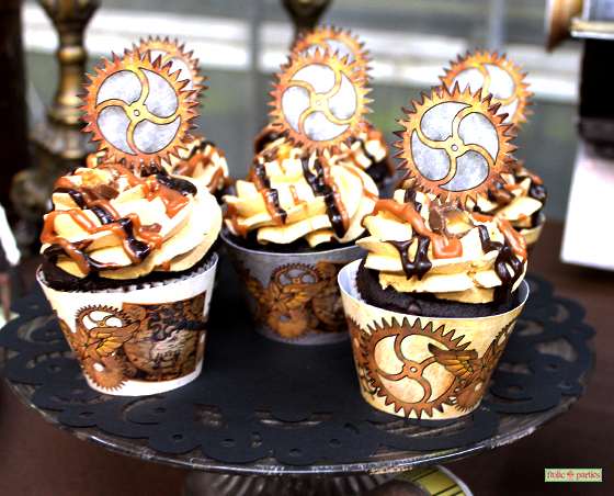steampunk-party-cupcake-wrapper