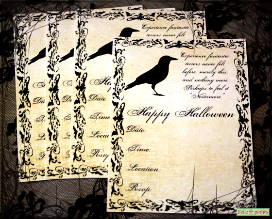 Vintage halloween printable party for Vintage halloween party invitations