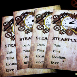 steampunk-party-invitations