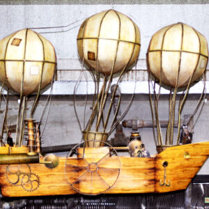 steampunk-party-airship-centerpiece