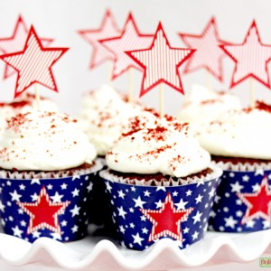 Stars-and-Stripes-Cupcake Wrappers and Picks