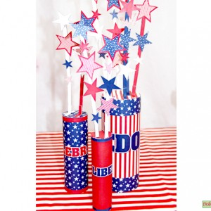 Stars-and-Stripes-Fireworks Centerpiece