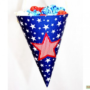 Stars-and-Stripes-Treat Cone
