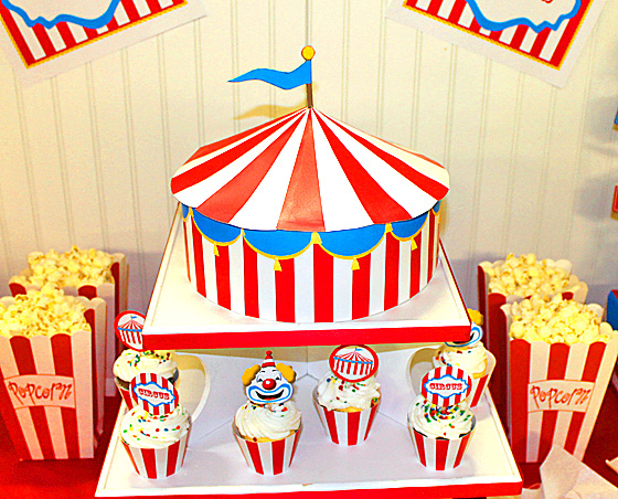 circus-party-circus-tent-centerpiece  sc 1 st  Frolic Parties : circus tent decorations - memphite.com