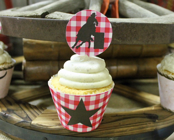 western party cupcake wrappers